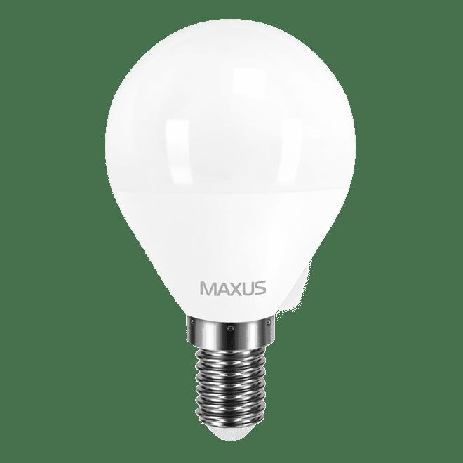 Светодиодная лампа MAXUS G45 F 4W мягкий свет 220V E14 (1-LED-5411) фото 1