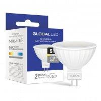 Светодиодная лампа GLOBAL MR16 5W мягкий свет 220V GU5.3 (1-GBL-113)