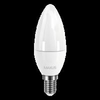 Светодиодная лампа MAXUS C37 CL-F 4W мягкий свет 220V E14 (1-LED-5311)
