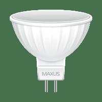 Светодиодная лампа MAXUS MR16 8W мягкий свет 220V GU5.3 (1-LED-515)