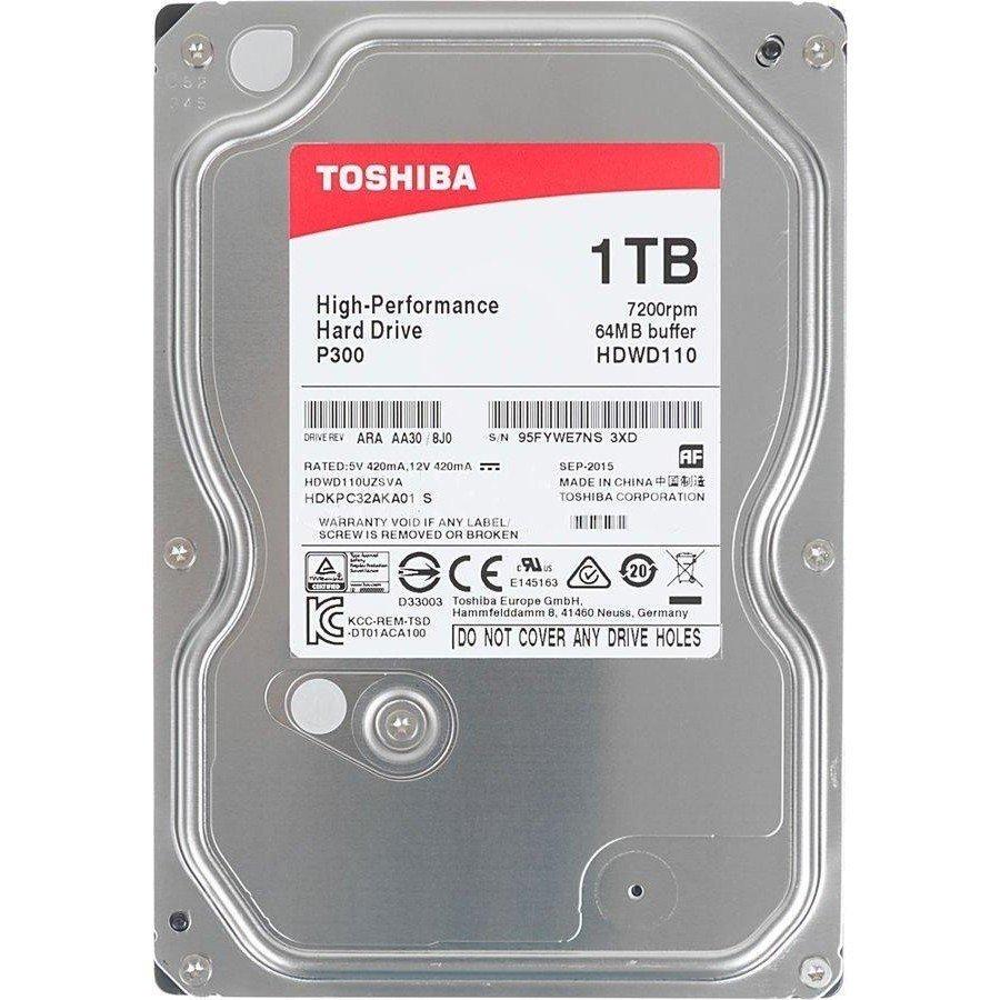 """Жесткий диск внутренний TOSHIBA 3.5"""" SATA 3.0 1TB 7200RPM 6GB/S/64MB (HDWD110UZSVA) фото 1"""