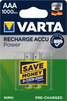 Аккумулятор VARTA RECHARGEABLE ACCU AAA 1000mAh BLI 2 NI-MH (READY 2 USE) (5703301402)