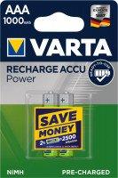 Акумулятор VARTA RECHARGEABLE ACCU AAA 1000mAh BLI 2 NI-MH (READY 2 USE) (5703301402)