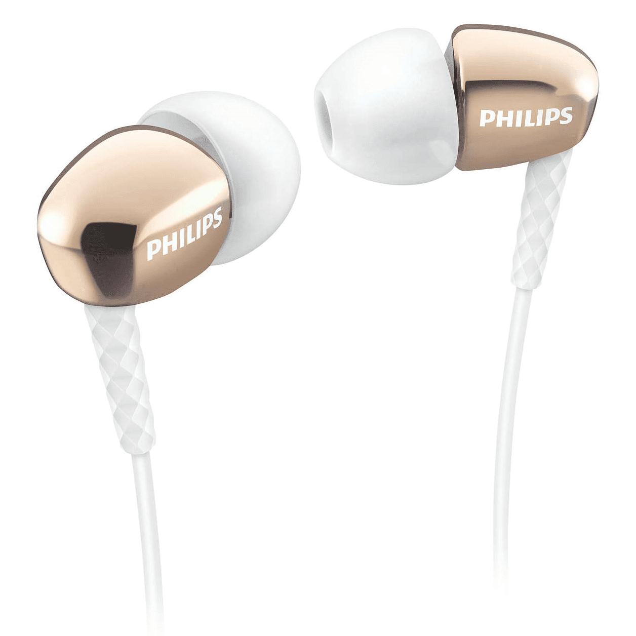 ≡ Навушники PHILIPS SHE3905GD 00 Mic Gold – купити в Києві  e6e0ec9711e98