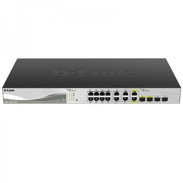 Купить Коммутаторы настраиваемые (Smart), КоммутаторD-LinkDXS-1100-16TC12x10GBaseT, 2x10GBaseT/SFP+Combo, EasySmart (DXS-1100-16TC)
