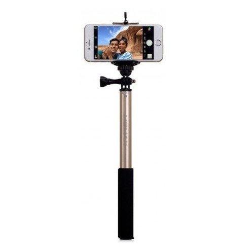 Монопод для смартфона MOMAX Selfifit Bluetooth Selfie Pod 90cm Golden (KMS1NL) фото