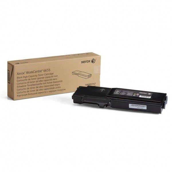 Купить Картриджи к лазерной технике, Тонер-картридж лазерный Xerox WC6655 Black, 12000 стр (106R02755)