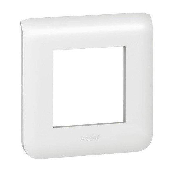 Опции к пассивному сетевому оборудованию, Рамка Legrand Mosaic 2 модуля, white  - купить со скидкой