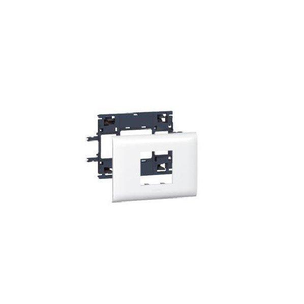 Купить Суппорт Legrand для монтажа Mosaic с крышкой 85мм, 2 модуля, white, DLP