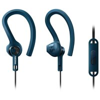 Наушники Philips ActionFit SHQ1405BL/00 mic Gray Blue