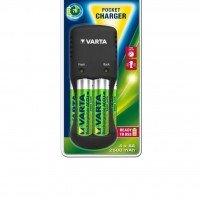 Зарядное устройство VARTA Pocket Charger + 4AA 2600 mAh NI-MH