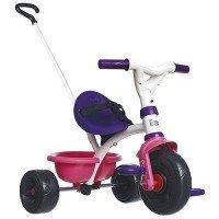 Трехколесный велосипед Smoby с багажником розовый (444238)