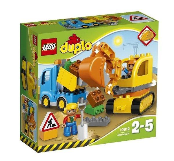 Купить Конструкторы, Конструктор Lego Duplo Грузовик и гусеничный экскаватор (10812)