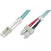 Оптический патч-корд DIGITUS LC/UPC-SC/UPC,50/125,OM3,duplex,2m
