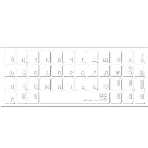 Наклейка на клавіатуру MacBook основа прозора символ сірийфото1