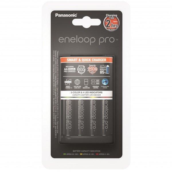 Купить Зарядное устройство Panasonic Smart-Quick Charger+Eneloop Pro 4AA 2500 mAh NI-MH