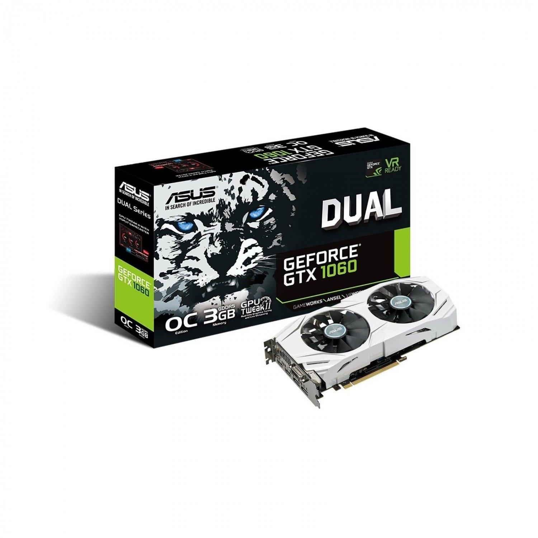 Видеокарта ASUS GeForce GTX 1060 3GB GDDR5 DUAL OC (DUAL-GTX1060-O3G) фото 1