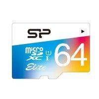 Карта памяти Silicon Power microSDXC 64GB Class 10 UHS-I R85/W70MB/s + SD-адаптер