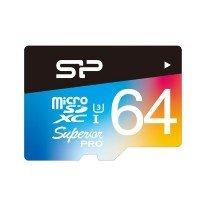 Карта памяти Silicon Power microSDXC 64GB Class 10 UHS-I (U3) R90/W80MB/s + SD-адаптер
