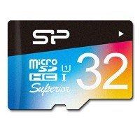 Карта памяти Silicon Power microSDHC 32GB Class 10 UHS-I U3 Superior Colorful + SD-адаптер