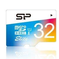 Карта памяти Silicon Power microSDHC 32GB Class 10 UHS-I Elite Colorful + SD-адаптер