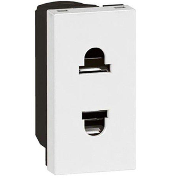 Купить MOSAIC Legrand розетка електрическая Schuko со шторками (16А, 250В, винтовые клеммы) 1мод, белый