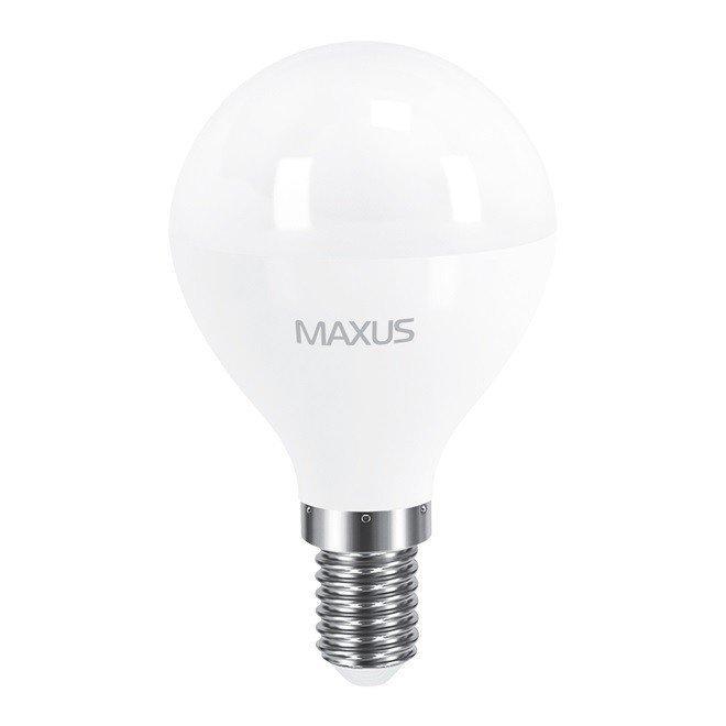 Светодиодная лампа MAXUS G45 F 8W 3000K 220V E14 (1-LED-5415) фото 1