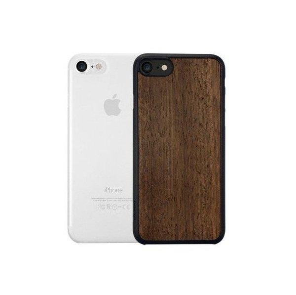 Купить Чехлы для телефонов (смартфонов), Чехол Ozaki O!coat 0.3 Jelly+Wood для iPhone SE 2020/8/7 2in1 Ultra slim & Light weight Ebony and Clear