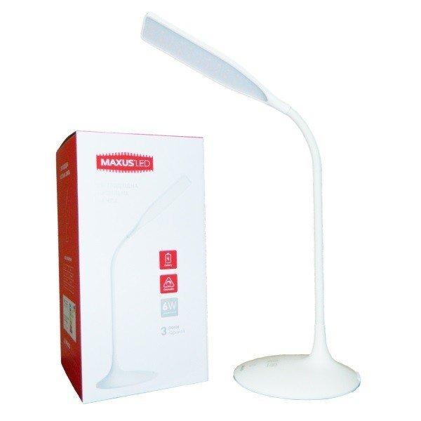 Настольная лампа MAXUS DKL 6W 4100K WH Square фото 1