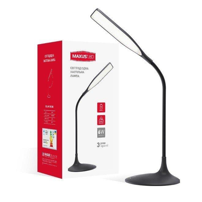 Настольная лампа MAXUS DKL 6W 4100K BK Square фото