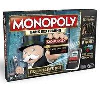 Настольная игра HASBRO MONOPOLY МОНОПОЛИЯ с банковскими карточками NEW на русском языке (B6677)