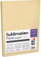 Фотобумага ColorWay сублимационная 100г/м, A4 PSM100-50 (PSM100050A4)