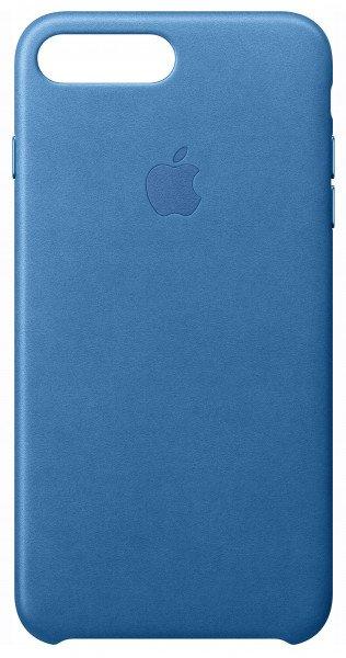 Купить Чехол Apple Leather Case для iPhone 8 Plus/7 Plus Sea Blue (MMYH2ZM/A)