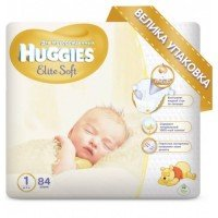 Підгузки Huggies Elite Soft 1 Mega 84 шт (5029053546940)