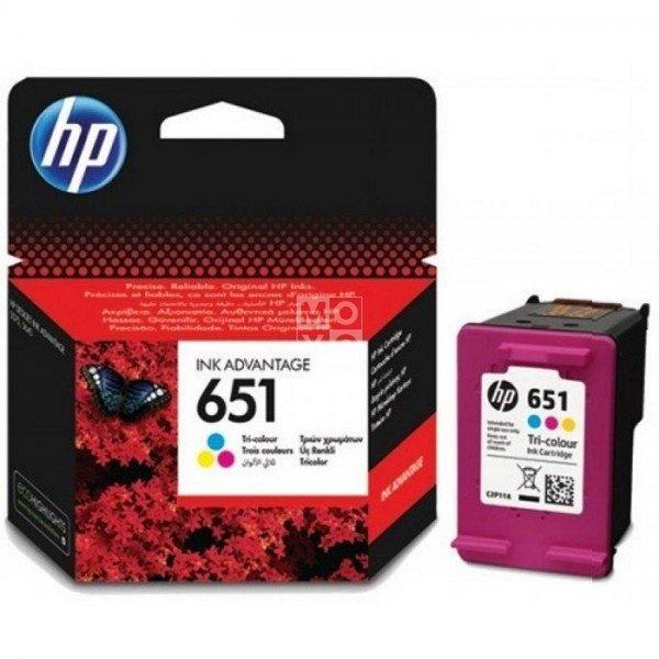 Купить Картридж струйный HP No.651 DJ Ink Advantage 5575/5645/OfficeJet 202 Tri-color, 300 стр (C2P11AE)
