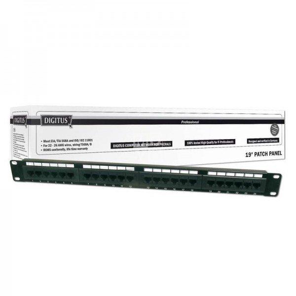 Купить Опции к пассивному сетевому оборудованию, Патч-панель DIGITUS 19 1U, 24 порта, 6 UTP в сборе