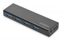 Концентратор EDNET 4 порта, USB 3.0, активный с БП
