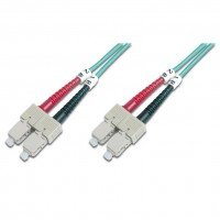Оптический патч-корд DIGITUS SC/UPC-SC/UPC,50/125, OM3,duplex,1m