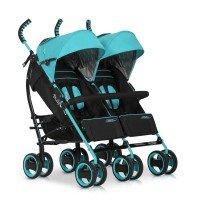 Прогулочная коляска для двойни EASY GO COMFORT DUO malachite (5205)