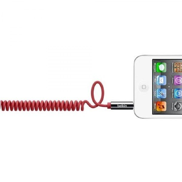 Купить Кабель MiniJack Belkin jack 3.5мм (M/M) MIXIT Coiled Red 1.8 м