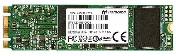 SSD накопитель TRANSCEND MTS820 120GB 2280 M.2 SATA (TS120GMTS820) фото 1