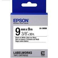 Лента Epson LK3WBN принтеров LW-300/400/400VP/700 Std Blk/Wht 9mm/9m