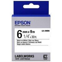 Лента Epson LK2WBN принтеров LW-300/400/400VP/700 Std Blk/Wht 6mm/9m