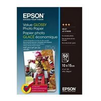 Бумага Epson 100mmx150mm Value Glossy Photo Paper 50 л. (C13S400038)