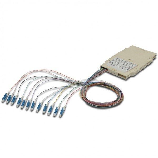 Купить Сплайс-кассета Digitus, 12 пигтейлов LC (UPC) 50/125 OM3 LSZH в компл.