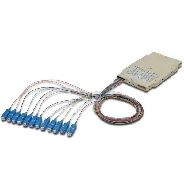 Купить Сплайс-кассета Digitus, 12 пигтейлов SC (UPC) 9/125 SM LSZH в компл.