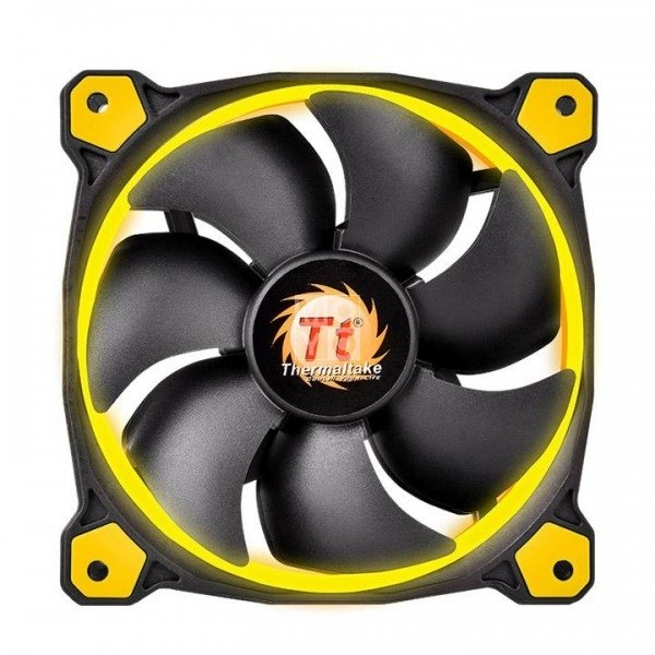 Купить Системы охлаждения, Вентилятор для корпуса Thermaltake Riing 12 Yellow LED (CL-F038-PL12YL-A)