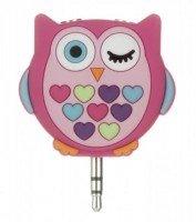 Разветвитель для наушников Doodles Owl 2x3.5mm Pink