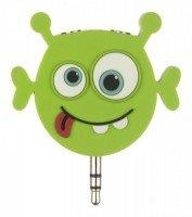 Разветвитель для наушников Doodles Alien 2x3.5mm Green