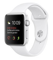 Смарт-часы Apple Watch Series 1 42mm Silver Aluminium Case with White Sport Band (MNNL2FS/A)